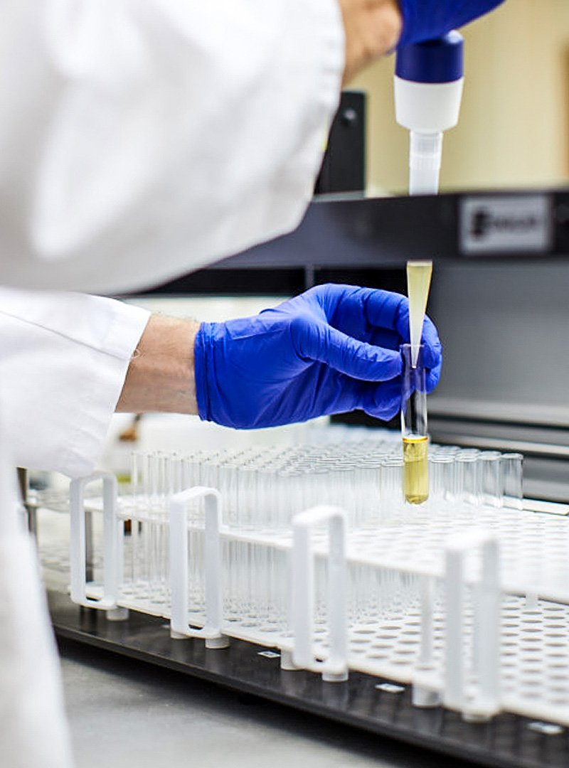 Laboratory testing samples at SVL